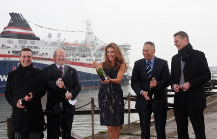 Kelly Brook DFDS Dover