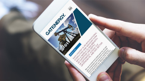 Gate Energy Mobile Site