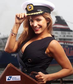 DFDS Kelly Brook sailor's hat