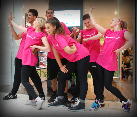 Superdrug dance troupe